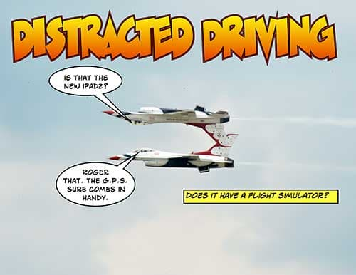 Cartoon: distracted driving